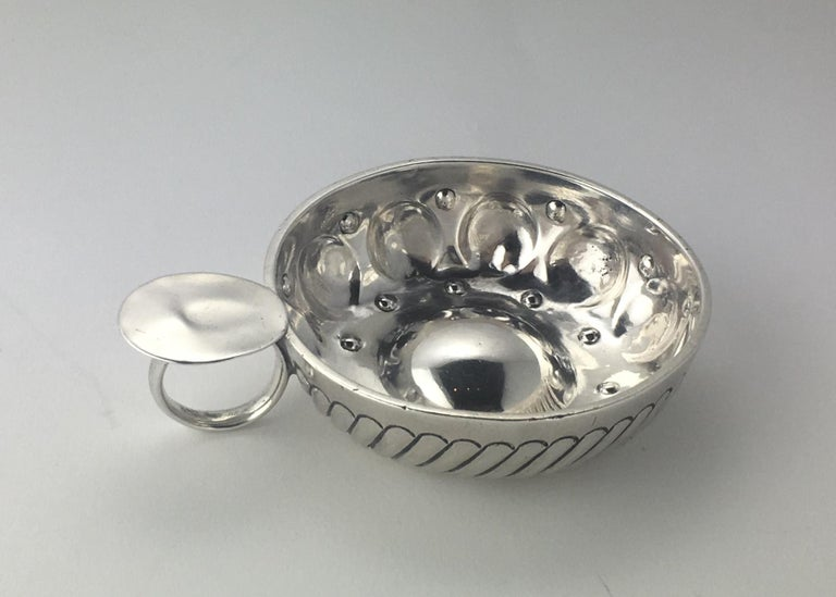 Antique French Sterling Silver Wine Taster For Sale At 1stdibs
