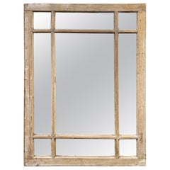 Antique French Stripped Pine and Gesso Paneled Mirrors