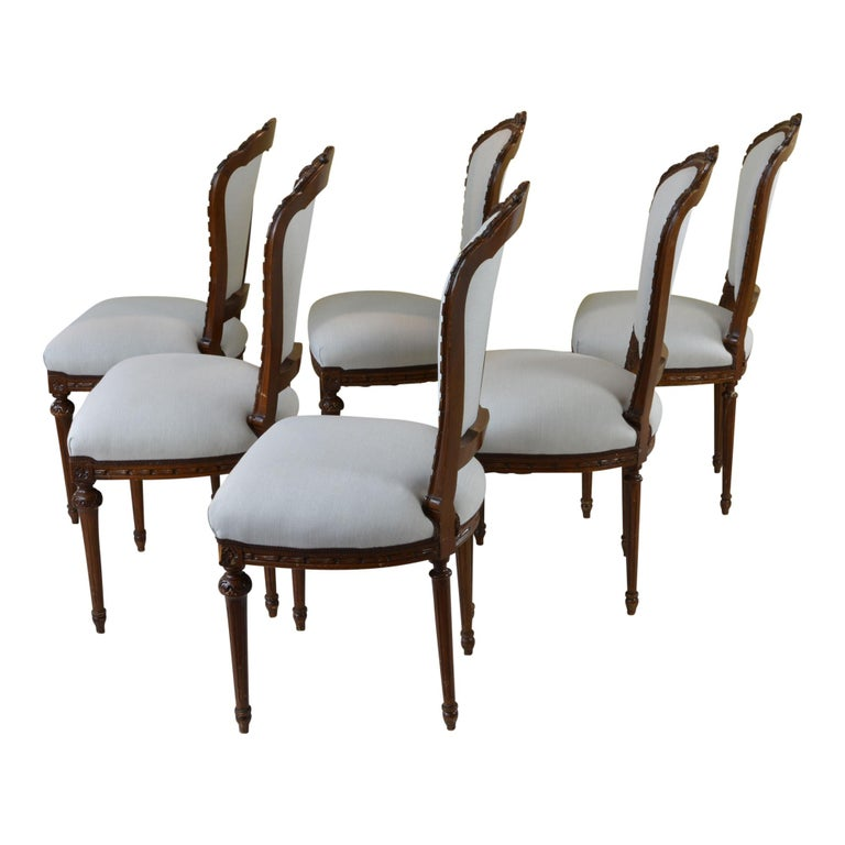 Antique Dining Room Chairs For Sale: Antique French Style Dining Chair Taupe Set Of Six For