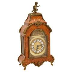 Antique French Style Kingwood Mantel Clock