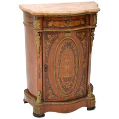 Antique French Style Marble-Top Cabinet