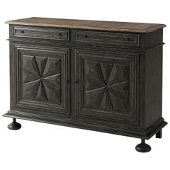 Antique French Style Oak Cabinet