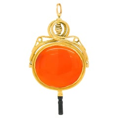Antique French Talisman, Huge Gold Watch Key