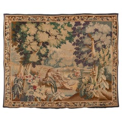 Antique French Tapestry, circa 1800s, Soft Tones