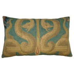 Antique French Tapestry Pillow, circa 19th Century 1752p