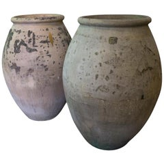 Antique French Terracotta Biot Jars, circa 1910