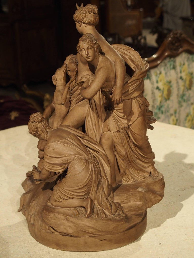 Antique French Terracotta Statue of the Goddess Diana For Sale 5