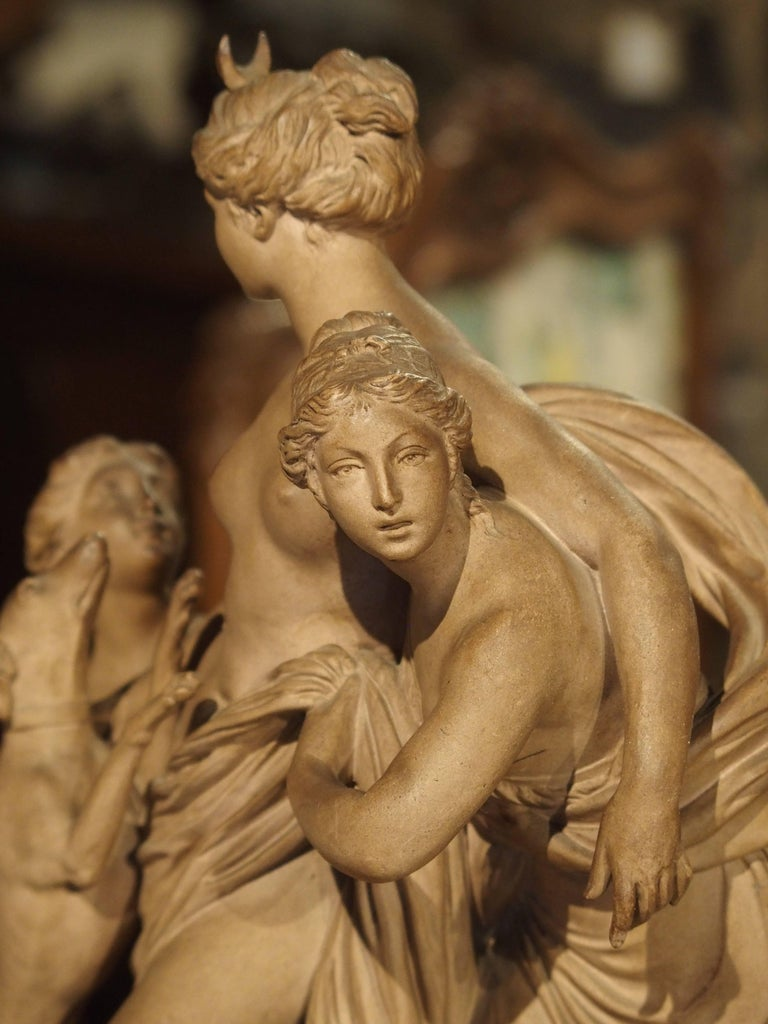 Antique French Terracotta Statue of the Goddess Diana For Sale 7