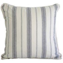 Antique French Ticking Accent Pillow