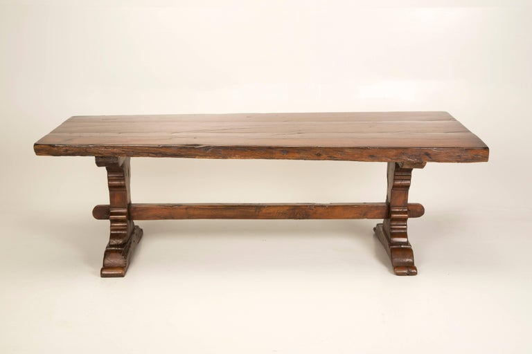 Antique French Trestle Dining Table, circa 1800 For Sale 4