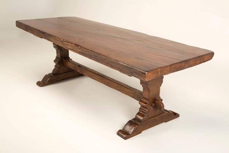 Antique French Trestle Dining Table, circa 1800 For Sale 2