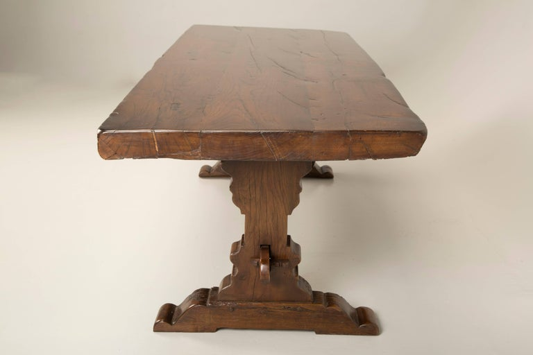 Antique French Trestle Dining Table, circa 1800 For Sale 3