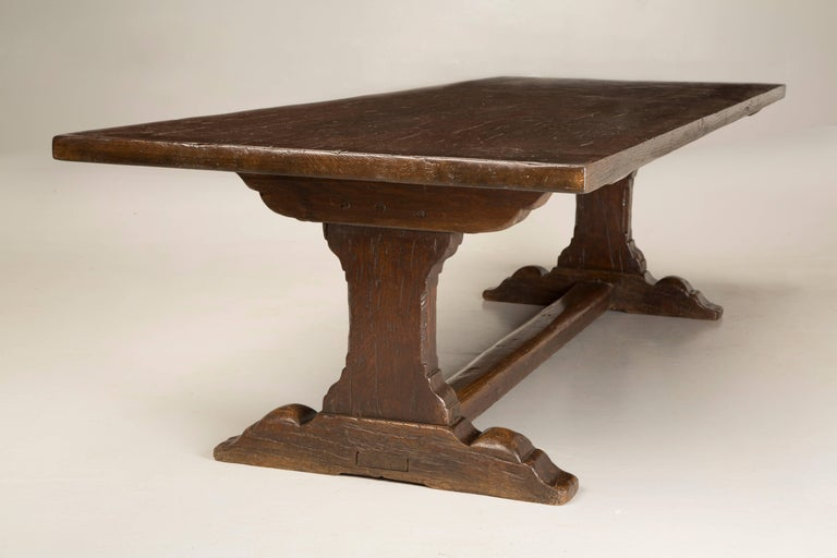 Antique French Trestle Dining Table, circa 1800s For Sale 4