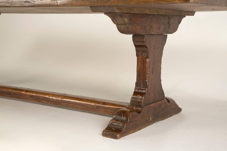 Country Antique French Trestle Dining Table, circa 1800s For Sale