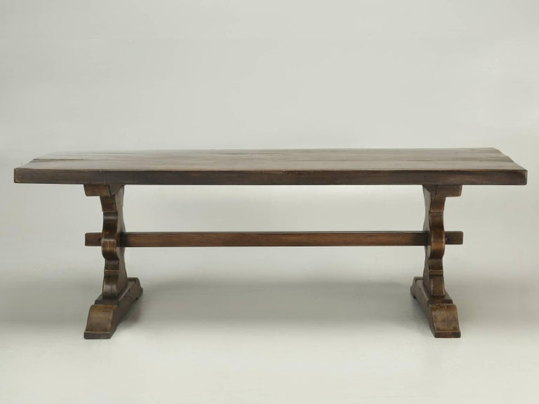 Antique French Trestle Dining Table, circa 1900 For Sale 1