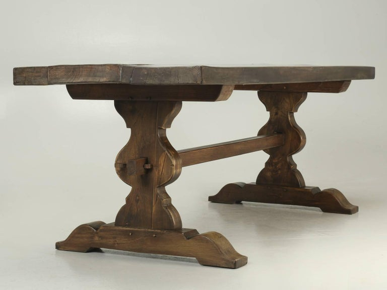 Antique French Trestle Dining Table, circa 1900 For Sale 2