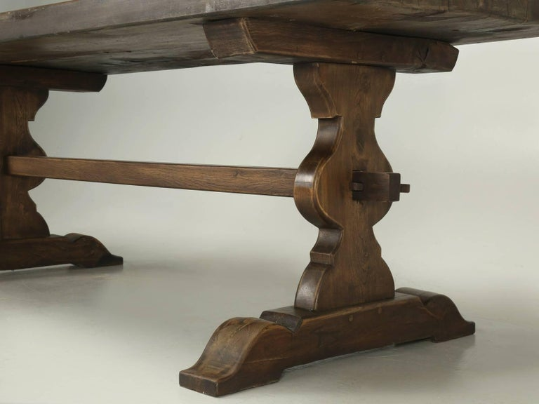 Antique French Trestle Dining Table, circa 1900 For Sale 3
