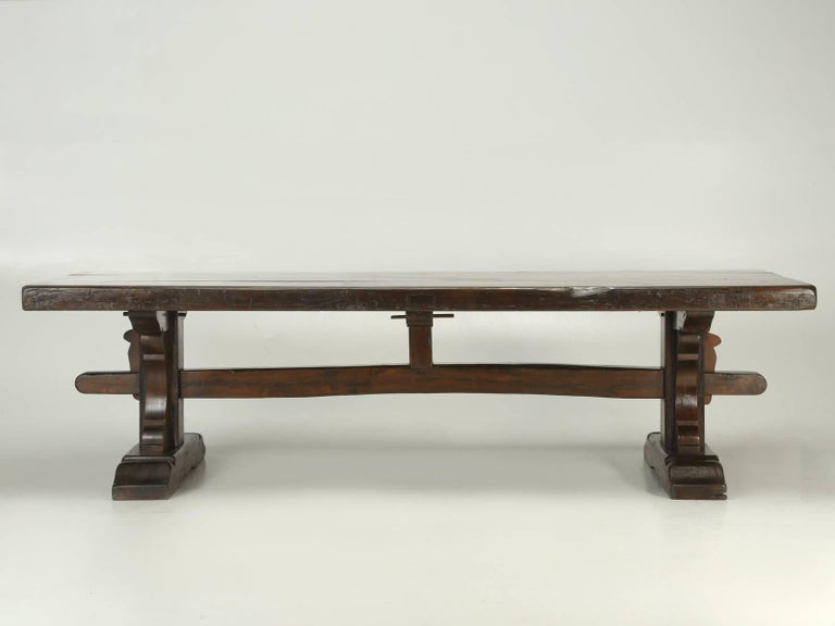 Antique French Trestle Dining Table, circa 1800s 1