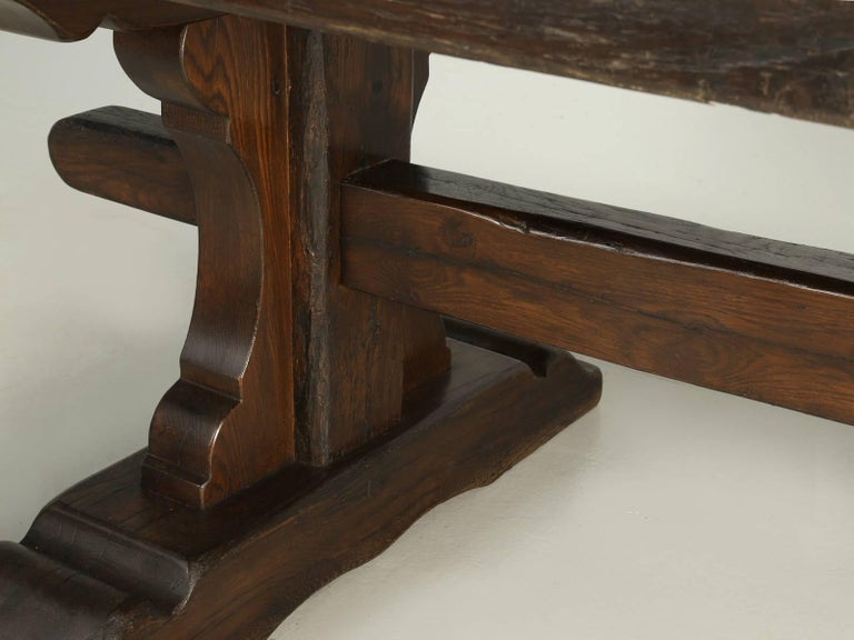 Antique French Trestle Dining Table, circa 1800s 2