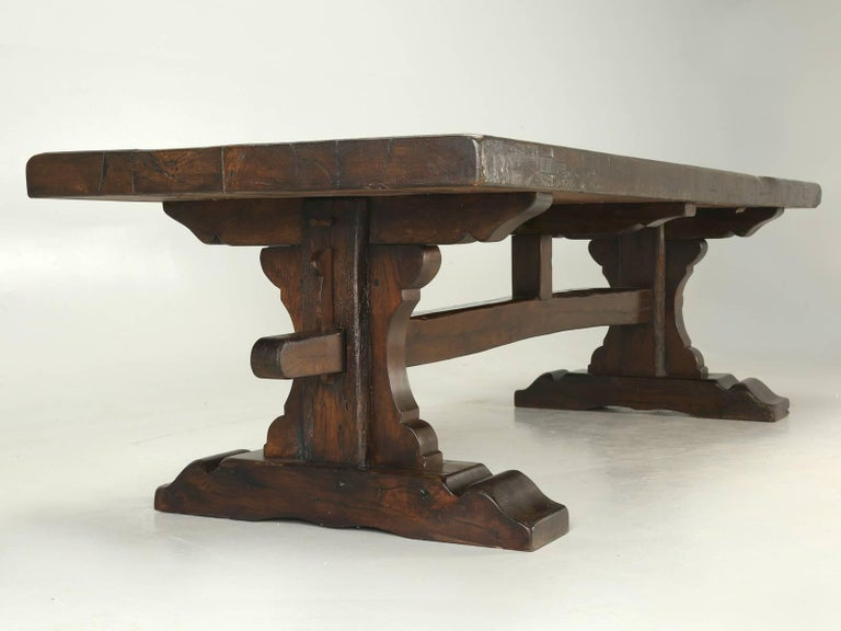 Antique French Trestle Dining Table, circa 1800s 3