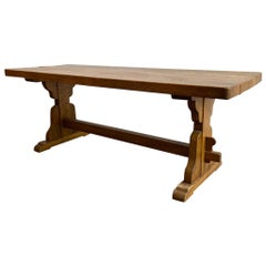 Antique French Trestle Dining Table