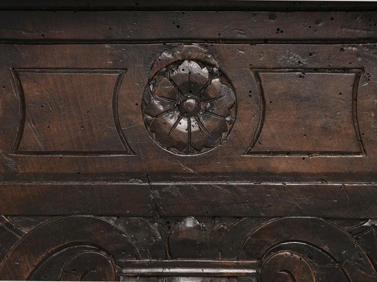 Antique French Trestle Dining Table with a Fleur-de-Lys Design Motif For Sale 6