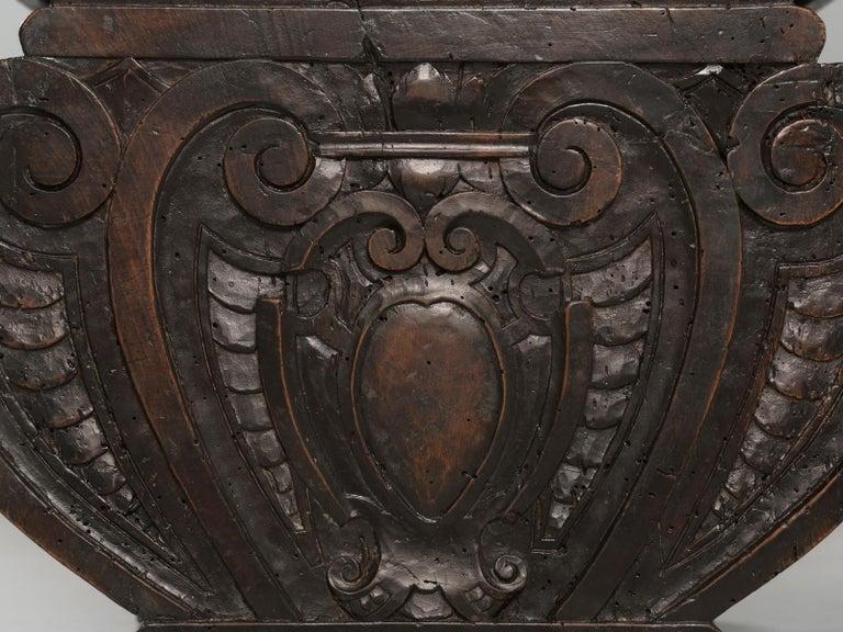 Antique French Trestle Dining Table with a Fleur-de-Lys Design Motif For Sale 7