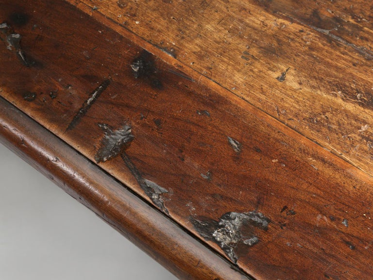 Early 19th Century Antique French Trestle Dining Table with a Fleur-de-Lys Design Motif For Sale