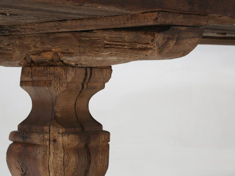Antique French Trestle Table, circa 300 Years Old For Sale 4
