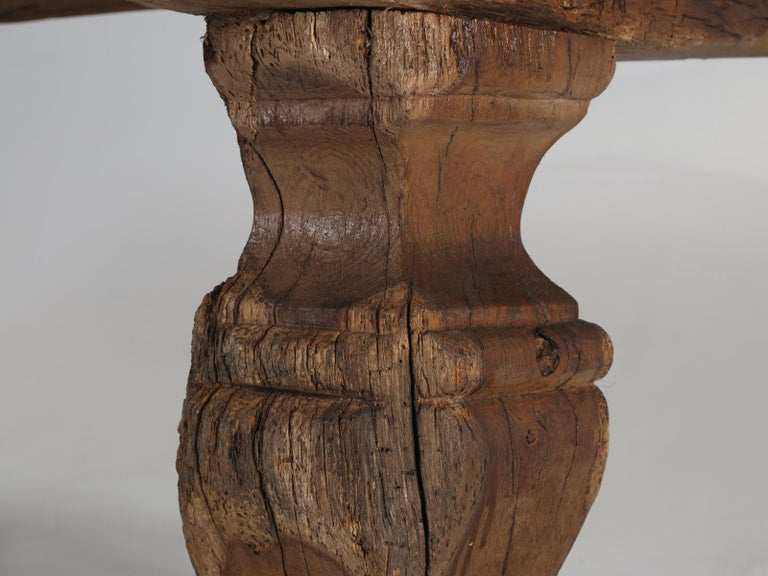Antique French Trestle Table, circa 300 Years Old For Sale 6