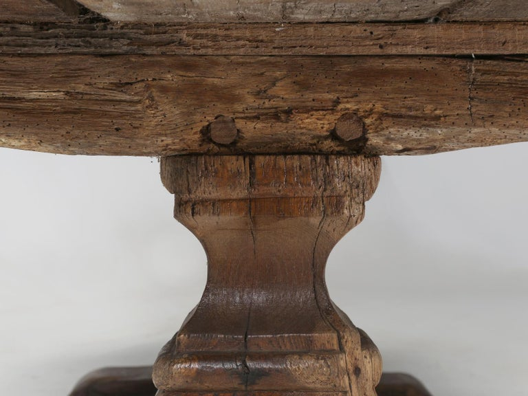 Antique French Trestle Table, circa 300 Years Old For Sale 9