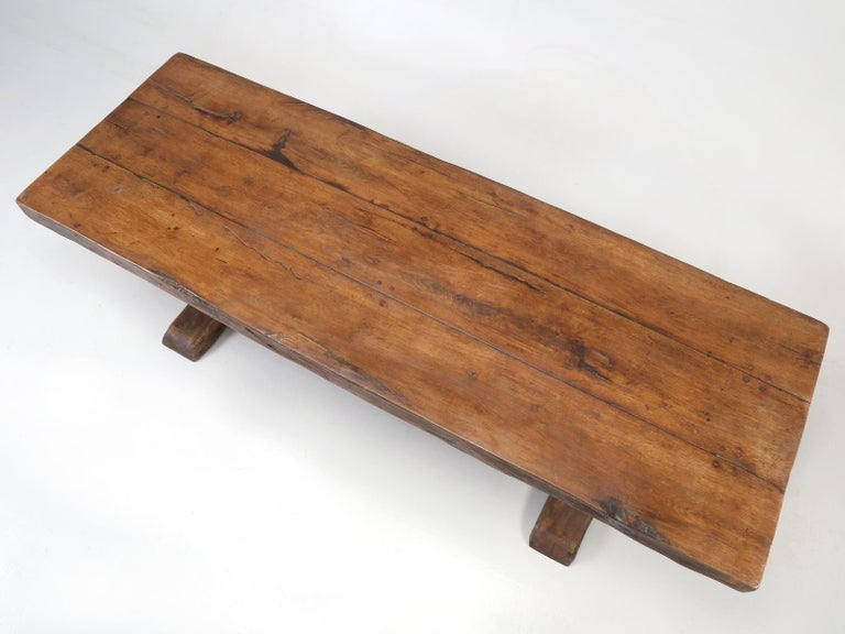 Every once in a great moon, if you are really lucky in this business, you get to discover a 300-year-old dining table, that no one has messed about with. This particular antique French trestle dining table, was probably made in the late 1600s (as