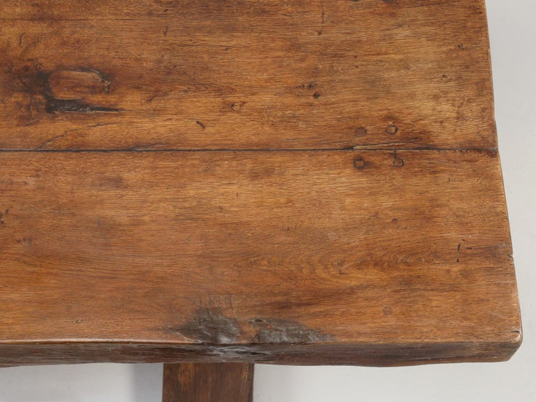 Country Antique French Trestle Table, circa 300 Years Old For Sale