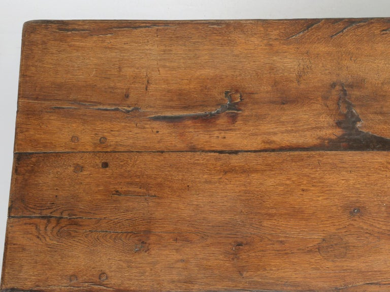 Antique French Trestle Table, circa 300 Years Old In Good Condition For Sale In Chicago, IL