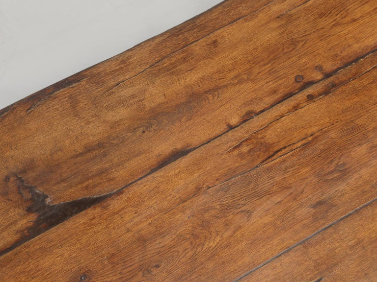 Mid-18th Century Antique French Trestle Table, circa 300 Years Old For Sale