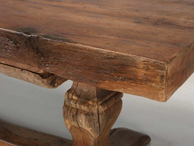 Antique French Trestle Table, circa 300 Years Old For Sale 1
