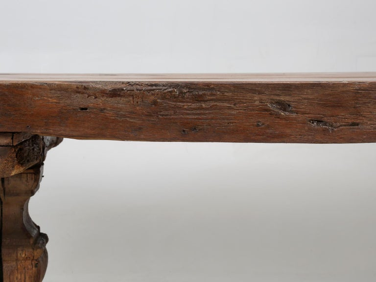 Antique French Trestle Table, circa 300 Years Old For Sale 2