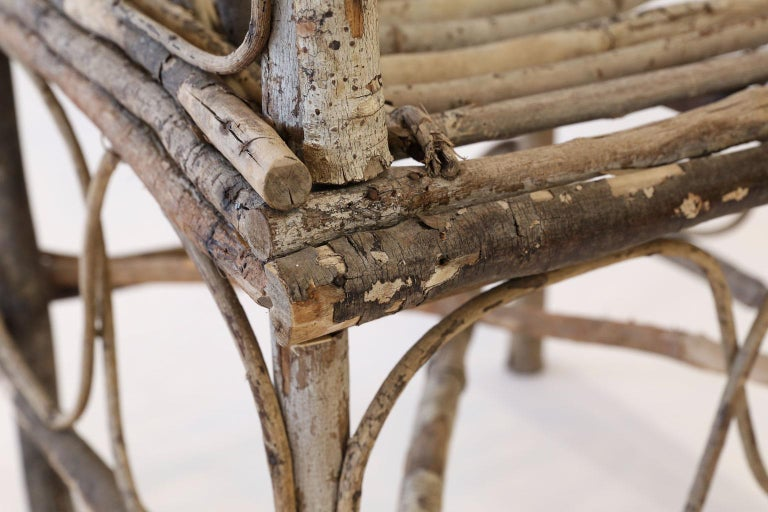 Antique French Twig Chair For Sale 5