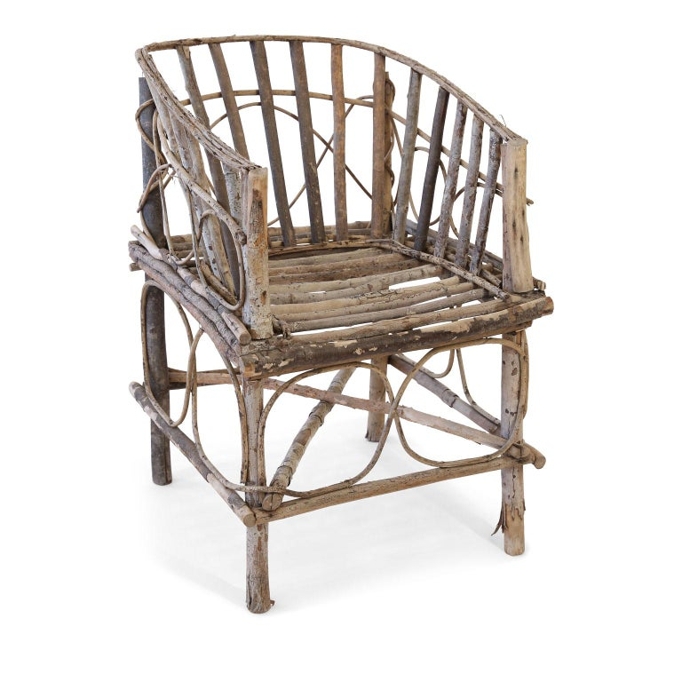 Antique French Twig Chair In Good Condition For Sale In Houston, TX