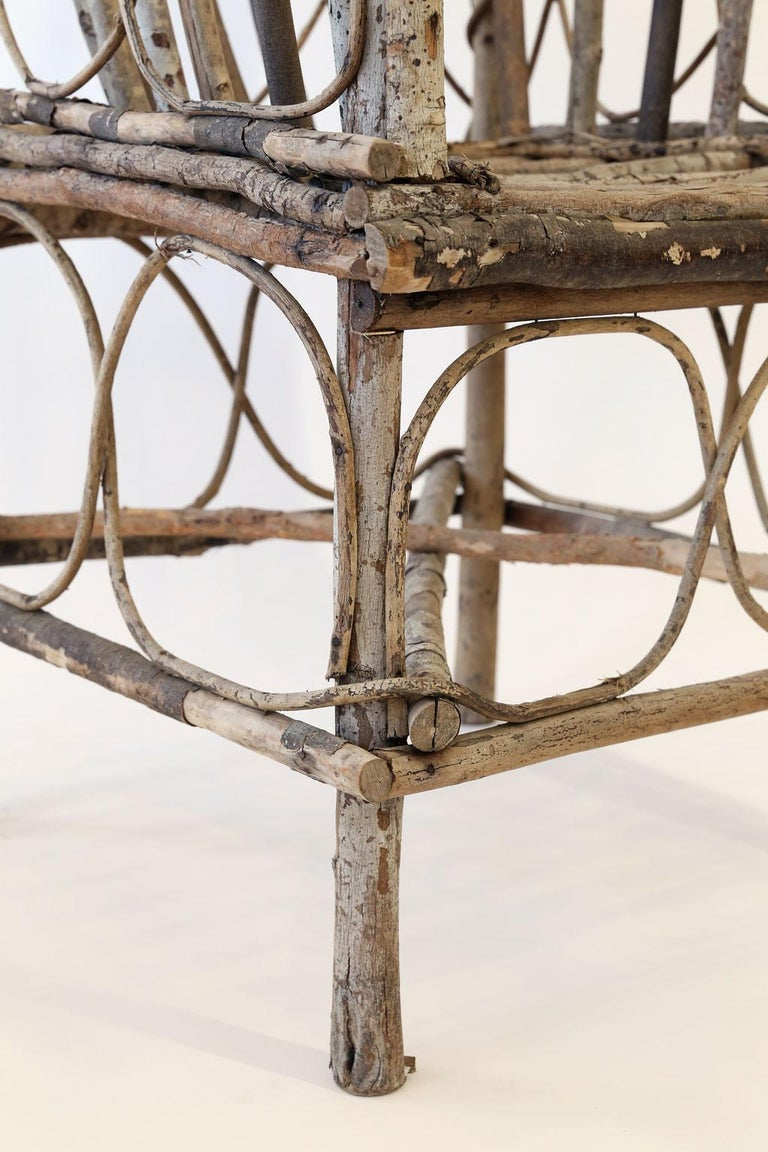 Antique French Twig Chair For Sale 1
