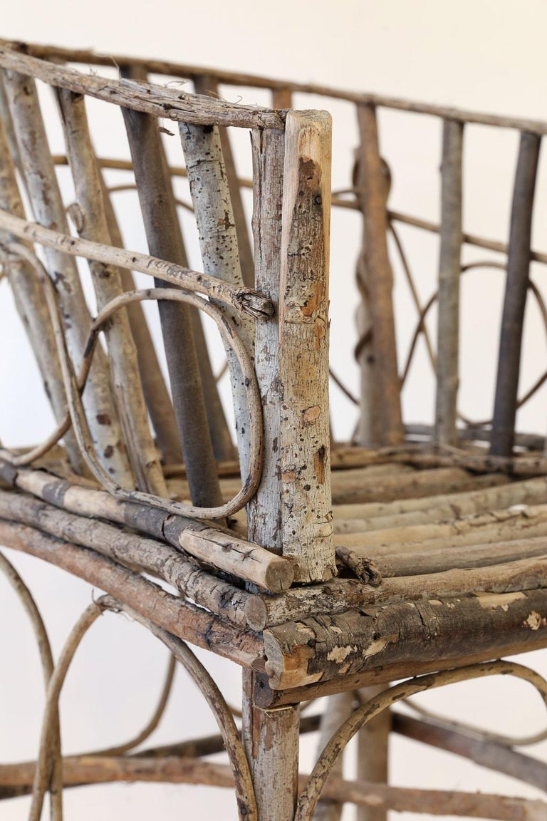 Antique French Twig Chair For Sale 2