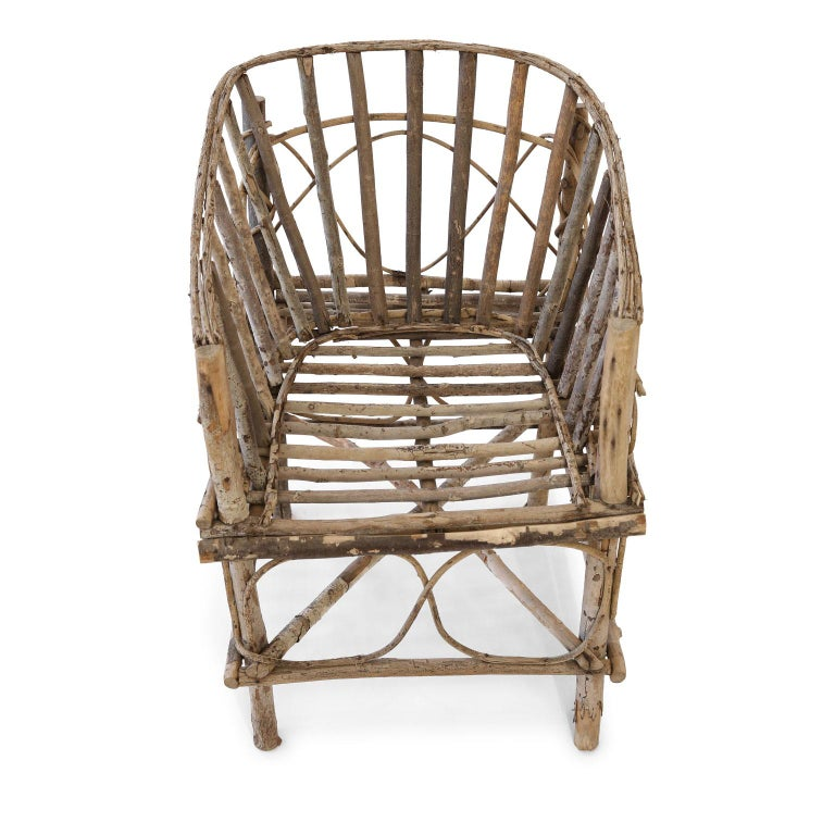 Antique French Twig Chair For Sale 3