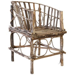 Antique French Twig Chair