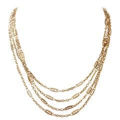 Gold Multi-Strand Necklaces