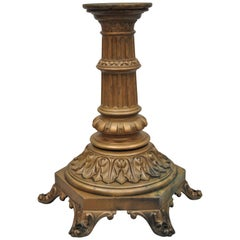 Antique French Victorian Cast Bronze Empire Style Pedestal Table Base