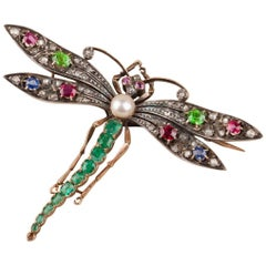 Antique French Victorian Dragonfly