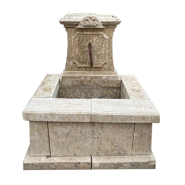 Antique French Wall Fountain For Sale