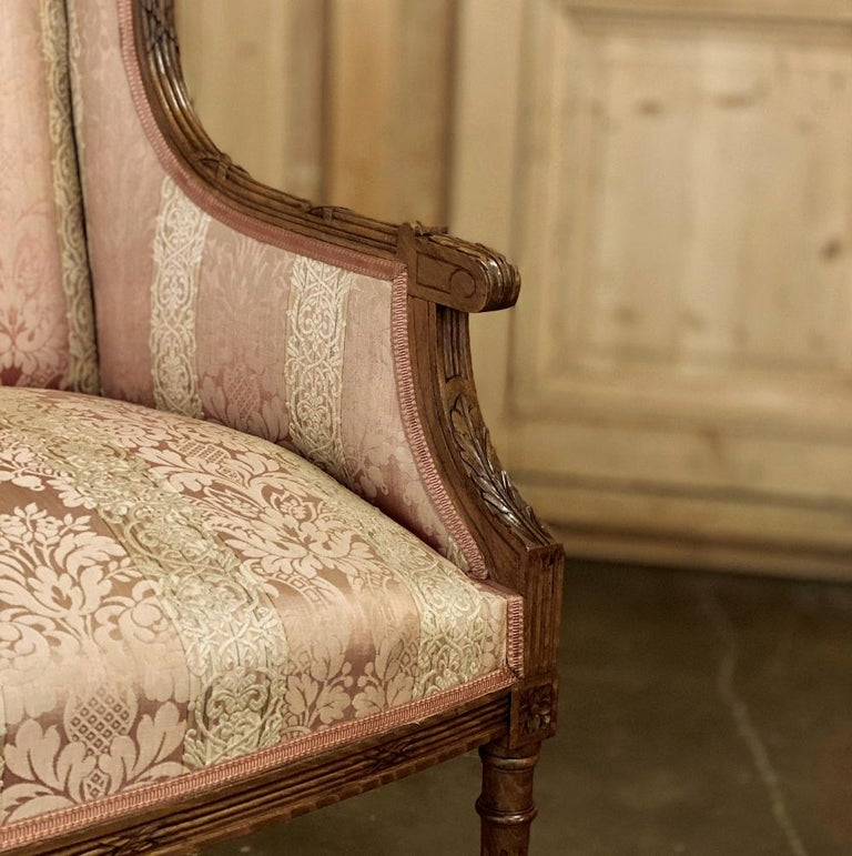 Antique French Walnut Louis XVI Canape, Sofa For Sale 5
