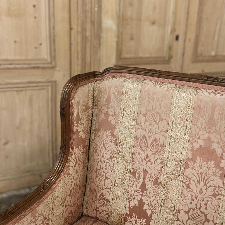 Antique French Walnut Louis XVI Canape, Sofa For Sale 6