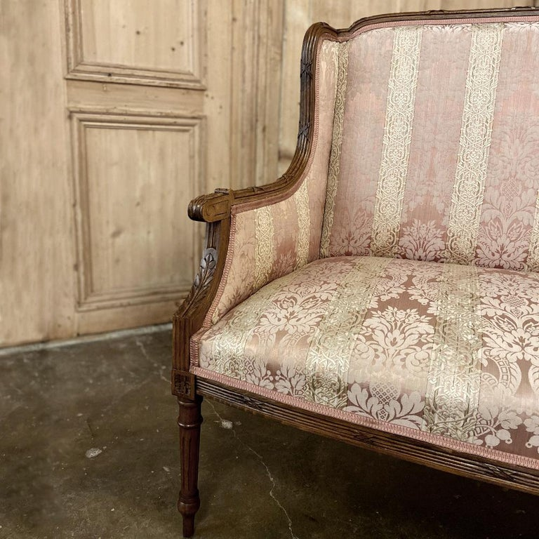 Antique French Walnut Louis XVI Canape, Sofa For Sale 7